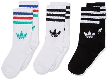 Adidas Crew So Kids 3P Calcetines, Unisex niños, (Blanco/Negro / vealre), 23/26: Amazon.es: Deportes y aire libre