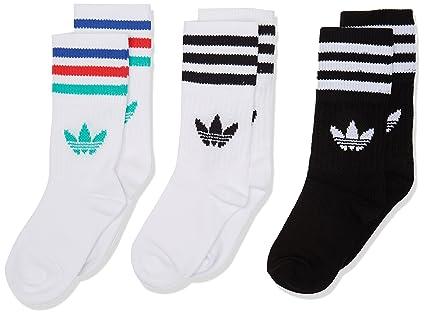 Adidas Crew So Kids 3P Calcetines, Unisex niños, (Blanco/Negro / vealre