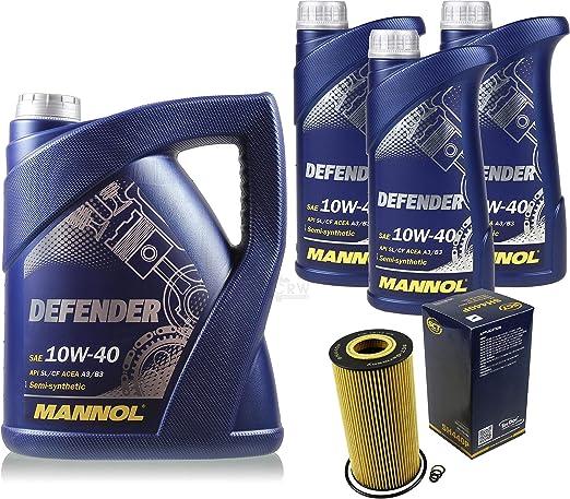 Filter Set Inspektionspaket 8 Liter Mannol Motoröl Defender 10w 40 Api Sl Cf Sct Germany Ölfilter Auto