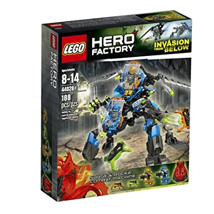 Amazoncom Lego Hero Factory Surge And Rocka Combat Machine 44028