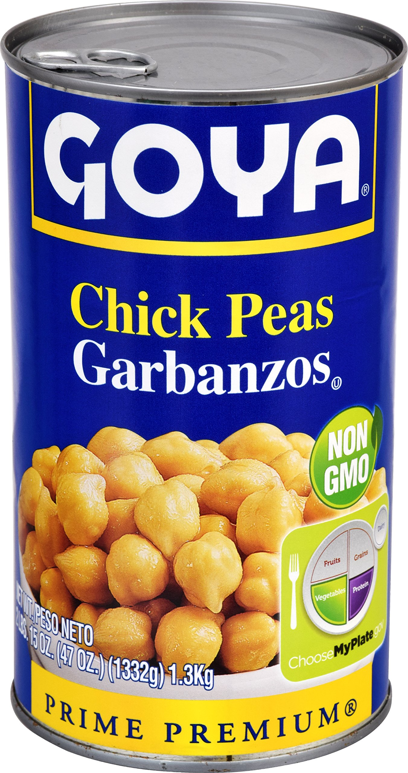 Goya Foods Chick Peas, 47 Ounce (Pack of 12)