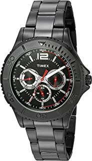 46870e8c58d1 Timex Men s TW2P87700 Taft Street Multifunction Black Stainless Steel  Bracelet Watch