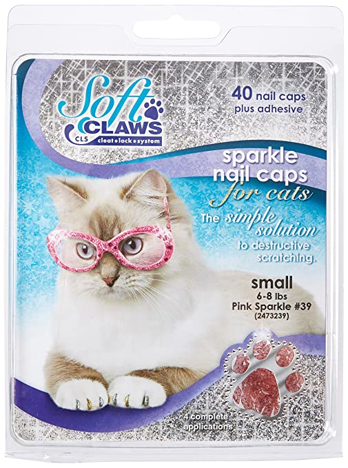Soft Claws Inc Suave Garras para Gatos, tamaño pequeño, Color Rosa Brillante