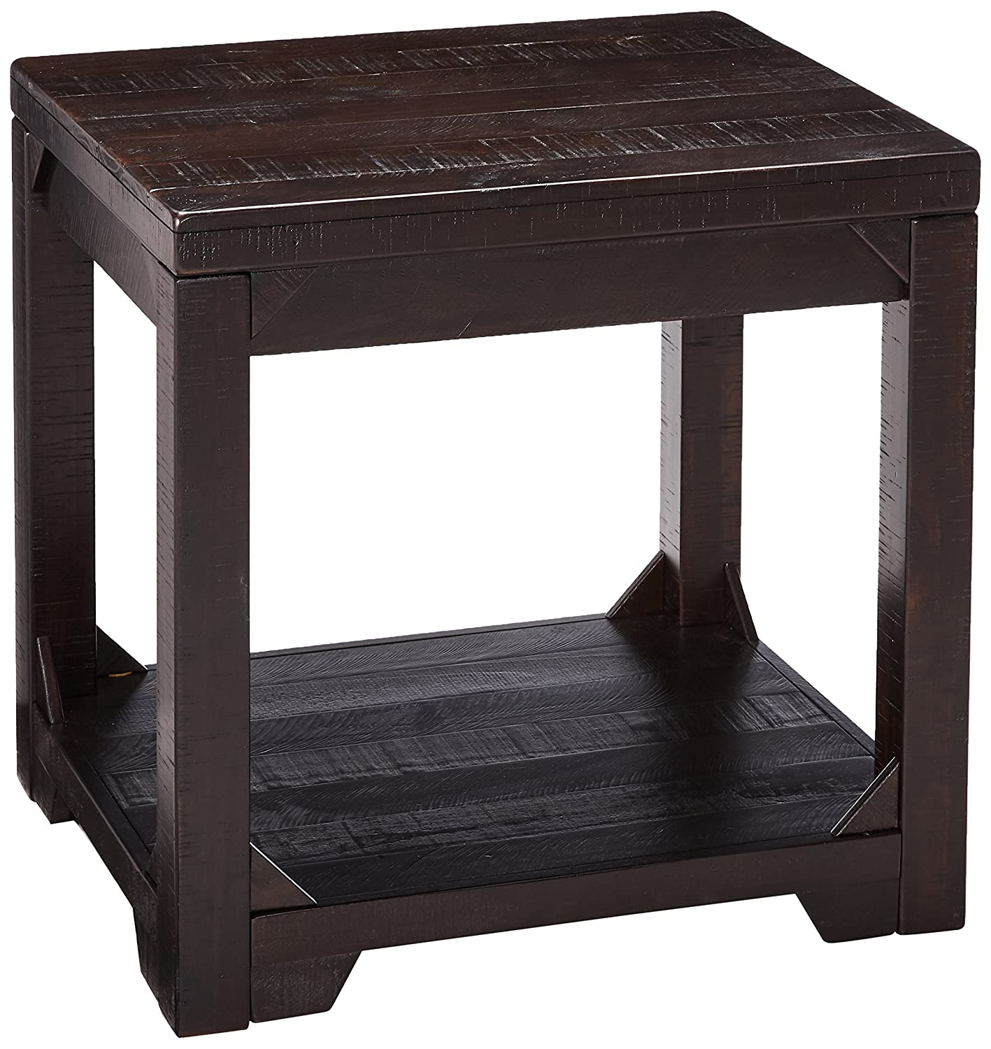 Signature Design by Ashley T745-3 Rectangular End Table Rustic Brown