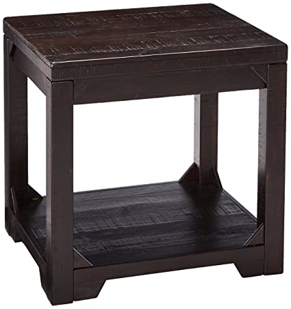 Ashley Furniture Signature Design – Rogness Rectangular End Table – Rustic – Distressed Brown