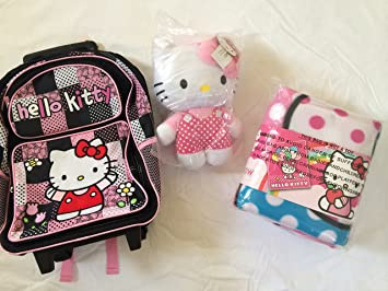 Amazon.com : super cute combo pack hello kitty large embroidered