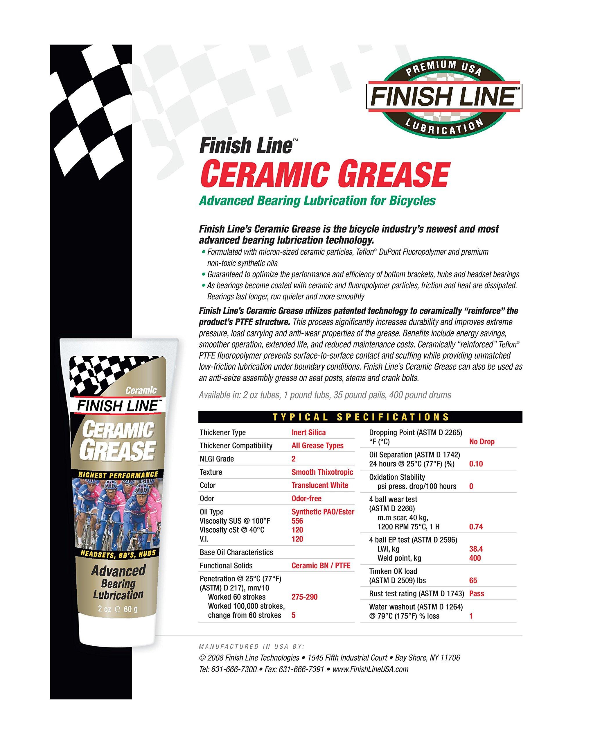 Finish Line Ceramic Grease 1lb Tub