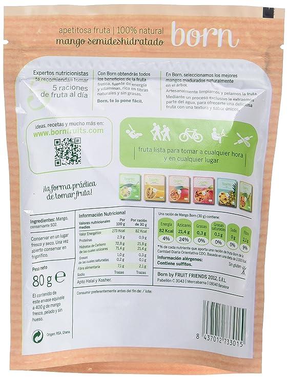 Born, Mango deshidratado - 8 de 80 gr. (Total: 640 gr.): Amazon.es: Alimentación y bebidas
