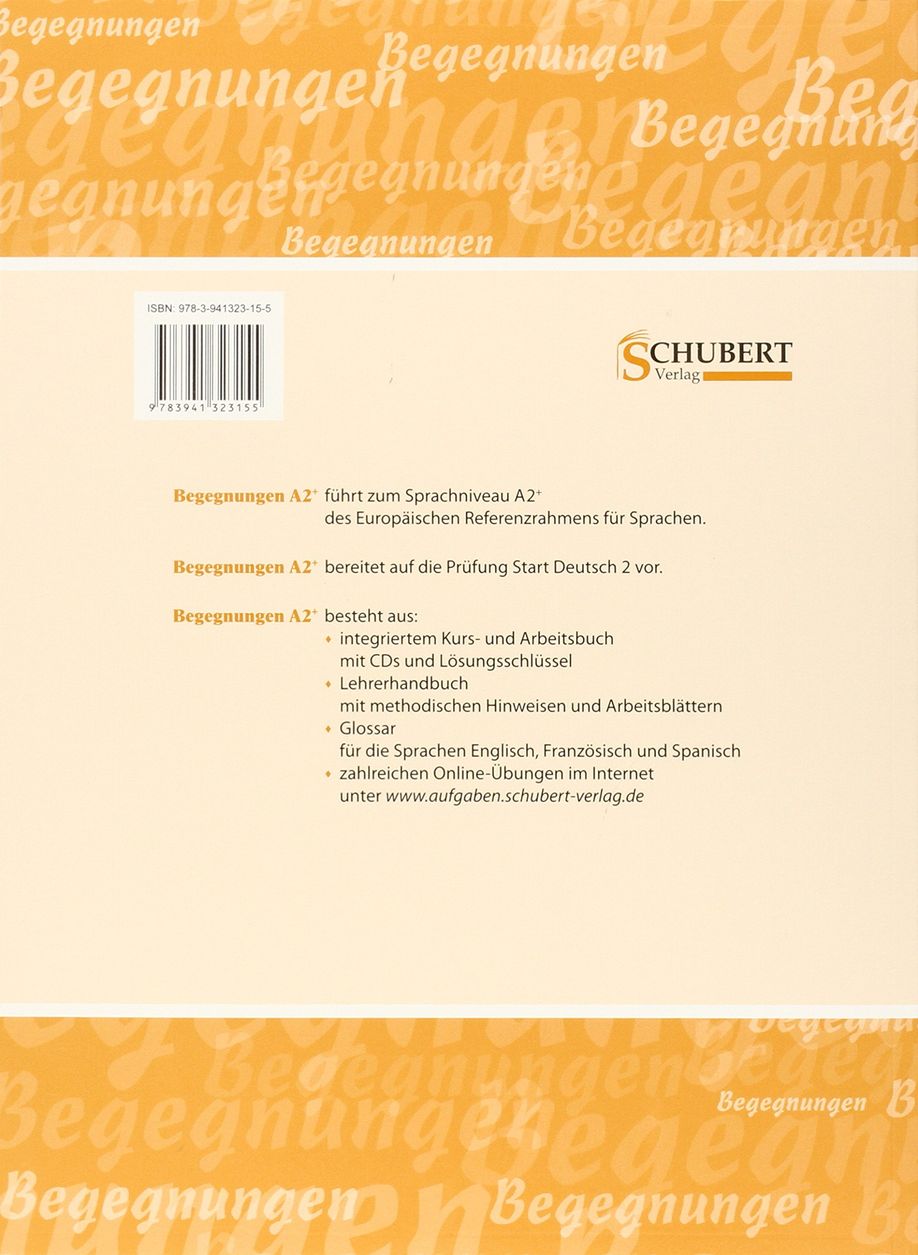 Buy Begegnungen: Lehrerhandbuch A2+ Book Online at Low Prices in ...