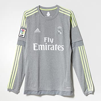 93e065430 Image Unavailable. Image not available for. Color  Adidas Real Madrid CF  Away Long Sleeve Jersey-GREY ...
