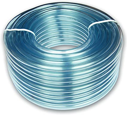 4mm ID x 6mm OD Clear PVC Tubing Pipe Hose 5 Metres