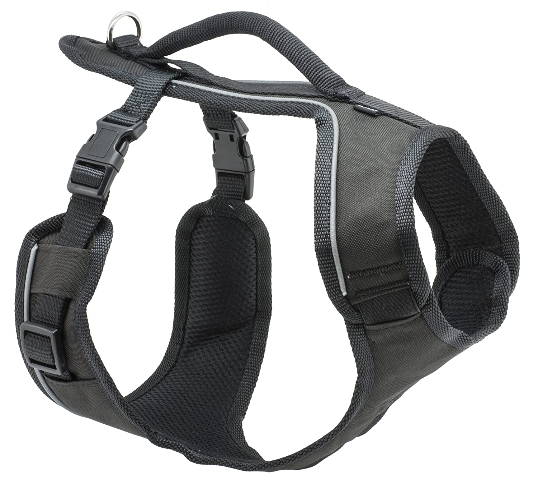 Petsafe Easy Sport Hundegeschirr, extra Tragekomfort, Reflektoren, Geschirrgriff fü r mittelgroß e Hunde ESPH-M-BK-19