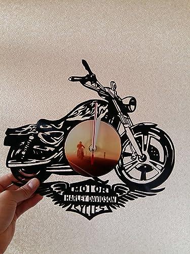 Amazoncom Harley Davidson Vinyl Record Wall Clock Get
