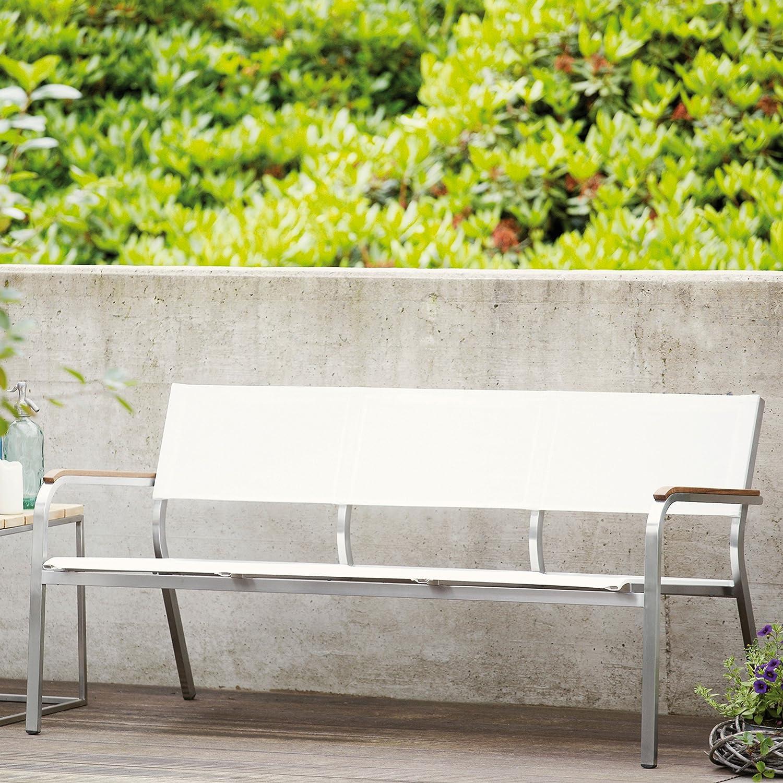 Lux XL Lounge Bank 3-Sitzer weiß / 156 x 70 cm
