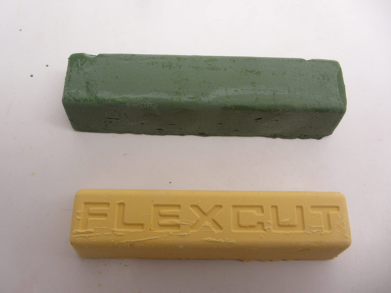 6 oz. Flexcut Gold Polishing Compound /& Green Chrome Oxide Compound