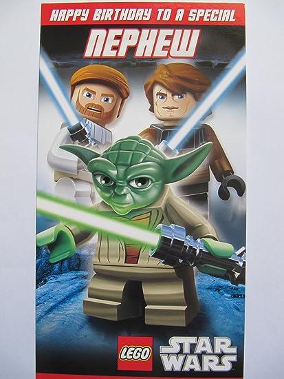 Amazon Fantastic Colourful Lego Star Wars Activity Card Nephew