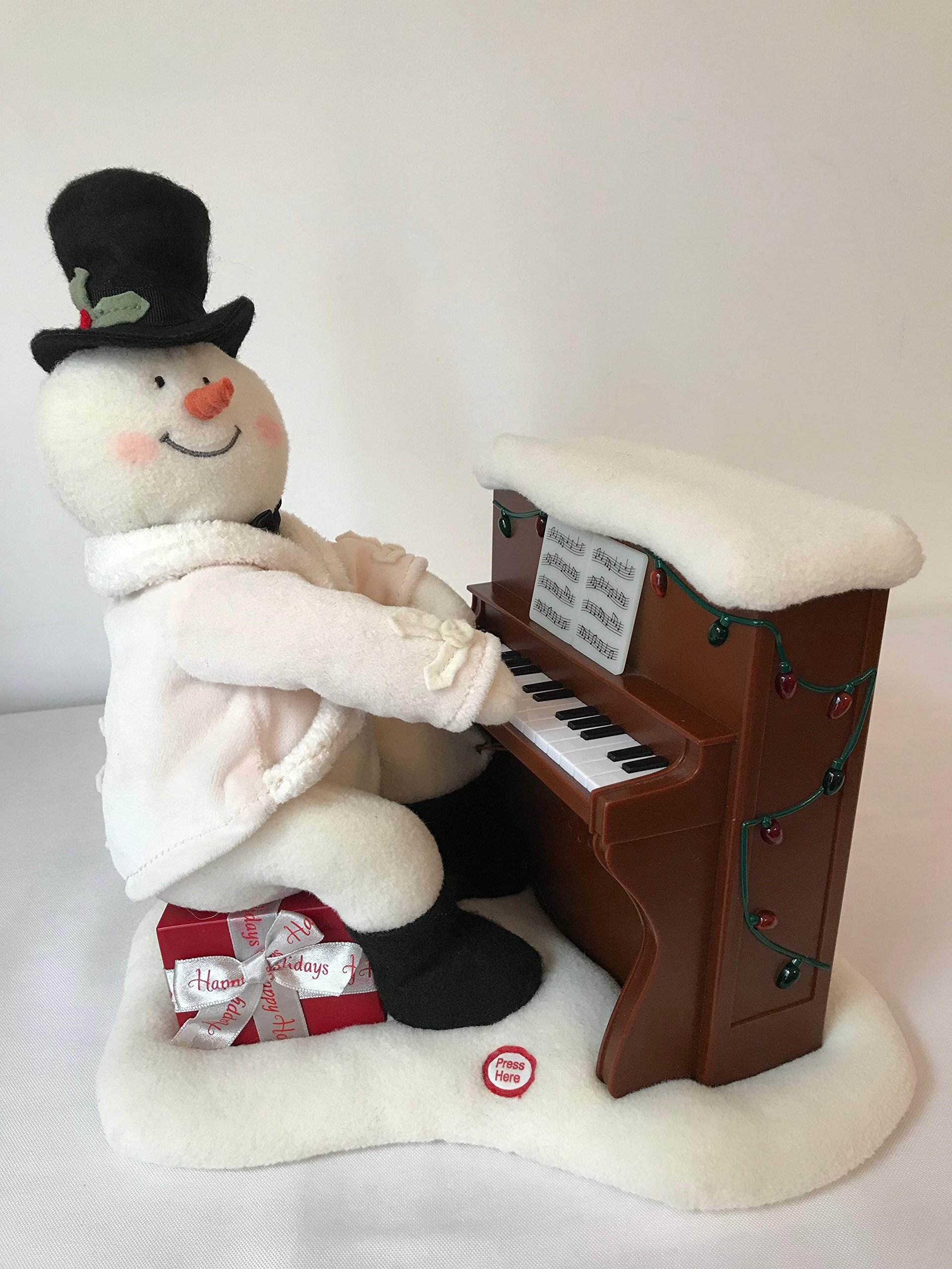Hallmark 2005 Piano Playing Snowman Techno Plush Animated Singing by Hallmark