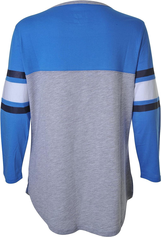 Ultra Game NBA Oklahoma City Thunder Womens T-Shirt Raglan Baseball 3//4 Long Sleeve Tee Shirt Small Team Color