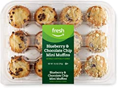 Fresh Brand – Blueberry & Chocolate Chip Mini Muffins, 10.3 oz (12 ct)