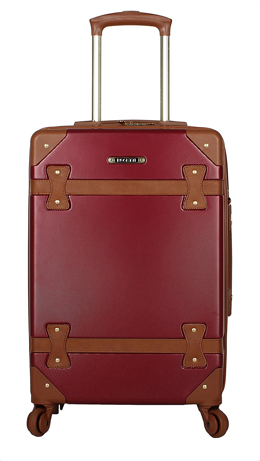 Rosetti Luggage Carry On Expandable Hardside Suitcase With Spinner Wheels 20in, Burgundy