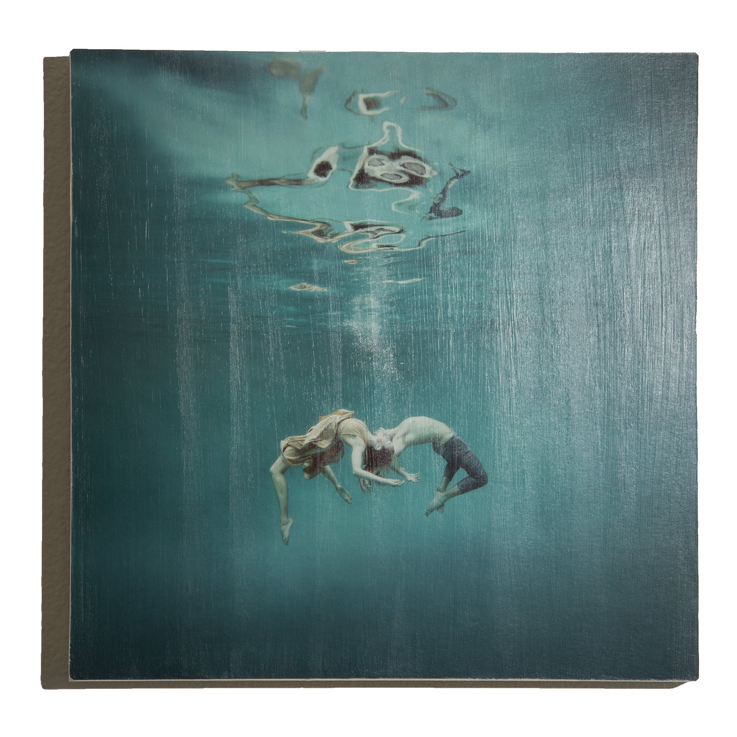 ''Embracing'' Underwater Photography on Wood Panel