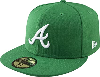 MLB Atlanta Braves Kelly with White 59FIFTY Fitted Cap 1cbb7dc1c4