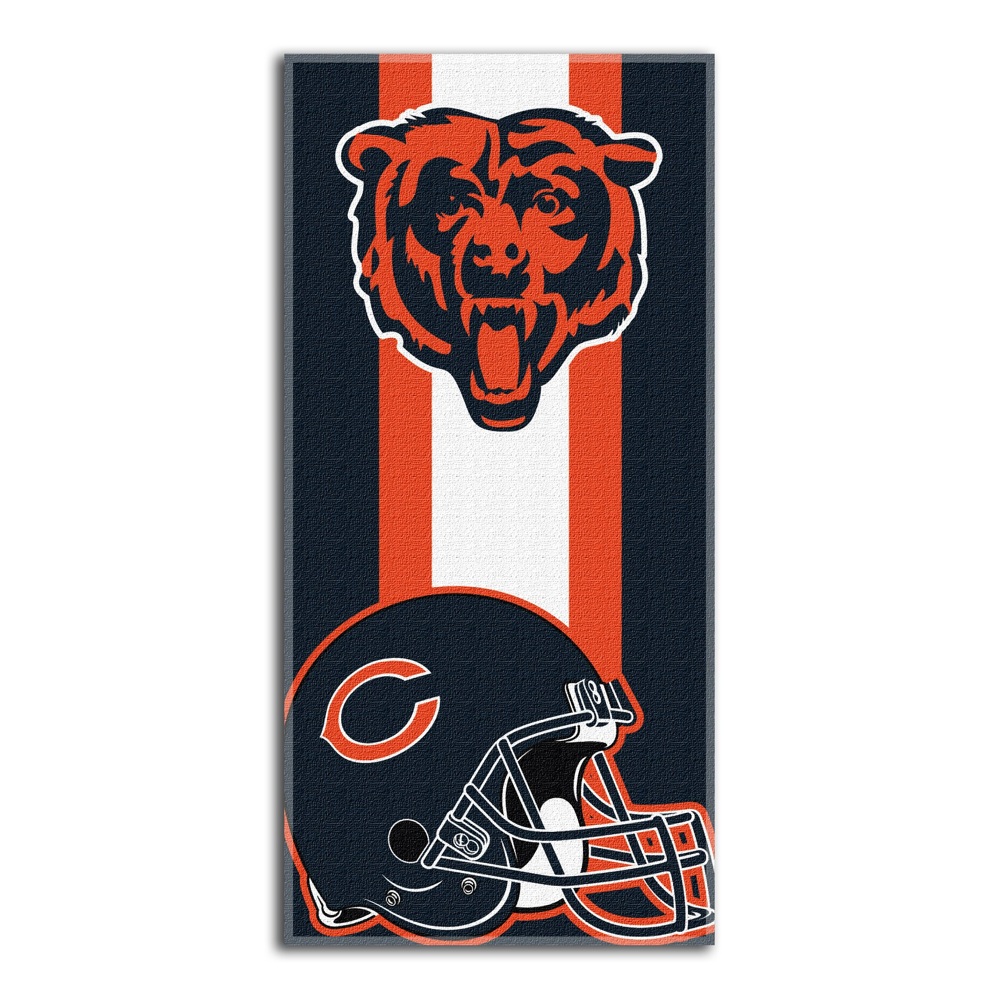 The Northwest Company NFL Chicago Bears Zone Read Beach Towel, Blue, 30'' x 60''
