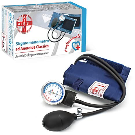 AIESI Esfigmomanometro Tensiómetro Manual Profesional Aneroide modelo clasico con brazalete de nylon para adultos DOCTOR PRECISION ✔ Medidor de ...
