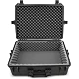 Casematix Waterproof DJ Mixer and Accessories Case Compatible with Zoom LiveTrak L-12 12 Channel Digital Audio Mixer And Reco