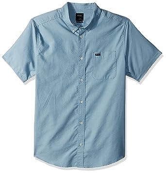 amazon com rvca men s that ll do oxford short sleeve woven shirt