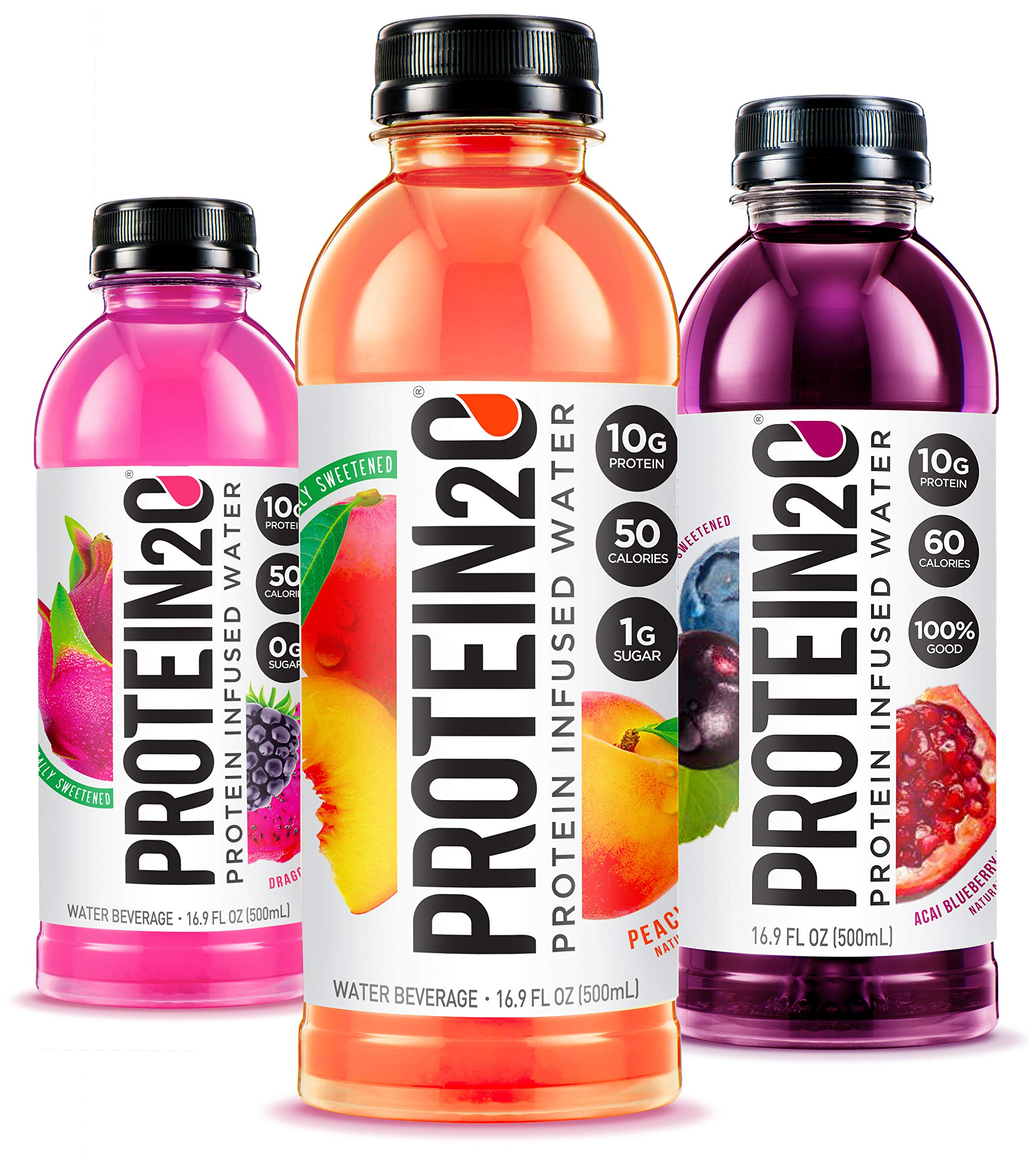Protein2o Low Calorie Protein Infused Water, 10g Whey Protein Isolate, Variety Pack (16.9 Oz, Pack Of 12) by Protein2o