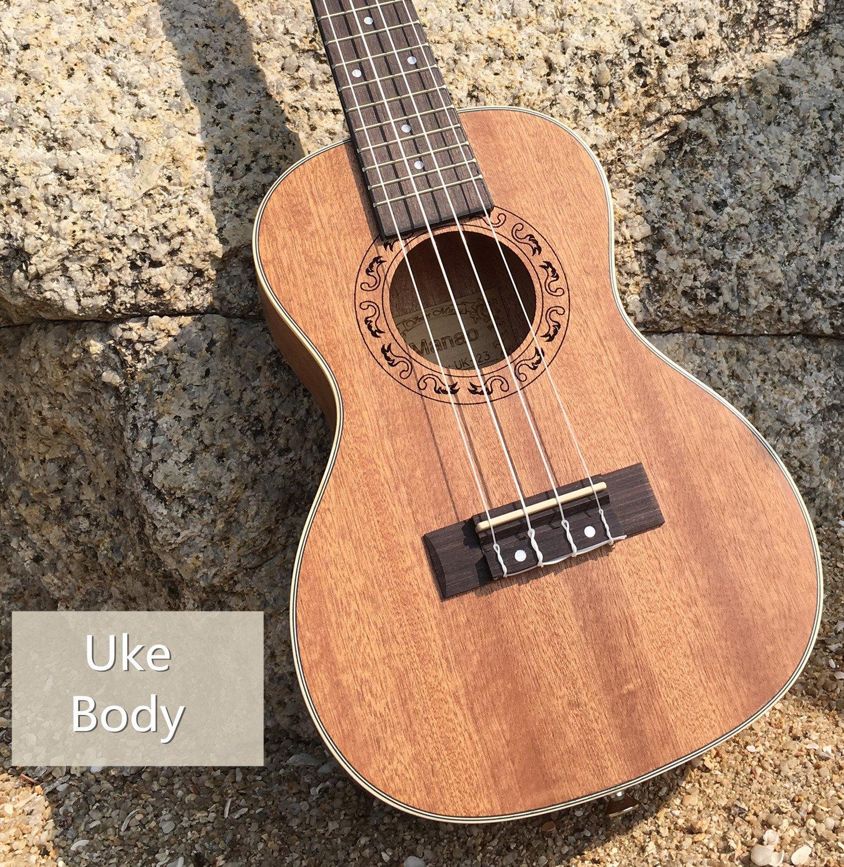 Manao Ukulele Concert Ukelele 23 Inch Ukele Beginner Pro Wooden Ukalelee Instrument with Gig Bag