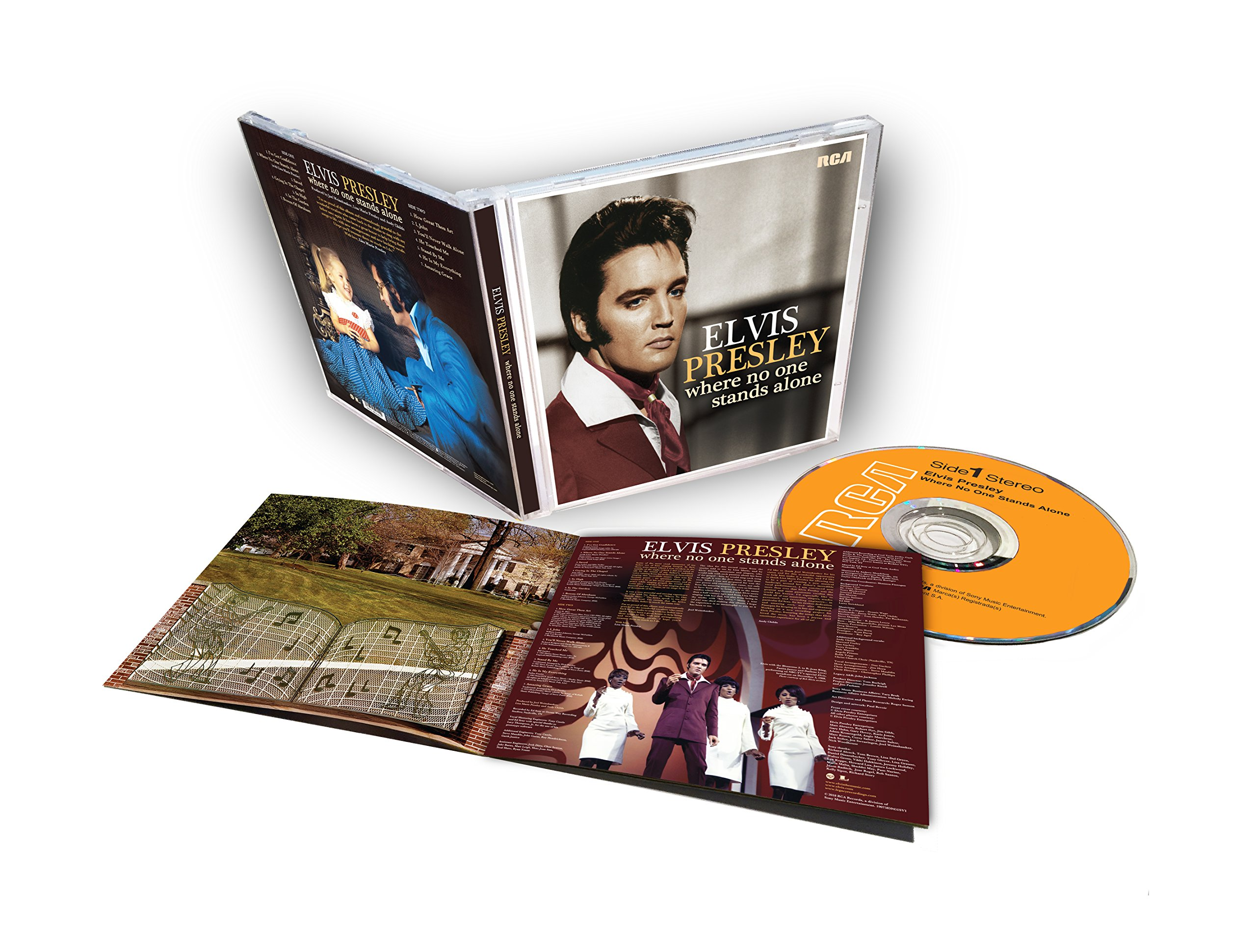 Image result for Elvis gospel compilation, 'Where No One Stands Alone