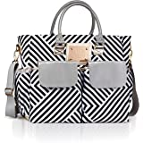 Designer Diaper Bag by MB Krauss - Large Women's Diapering Tote with Multiple Pockets, Luxurious Design - For Every Day Use (Voyager Tote)