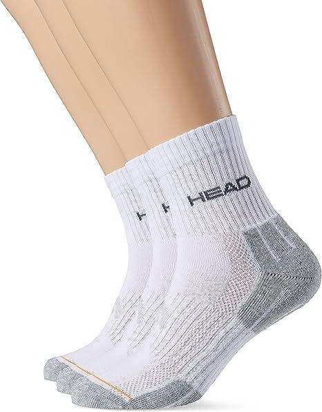 Head Socke Performance, Calcetines para Hombre, Blanco/Gris, Pack ...