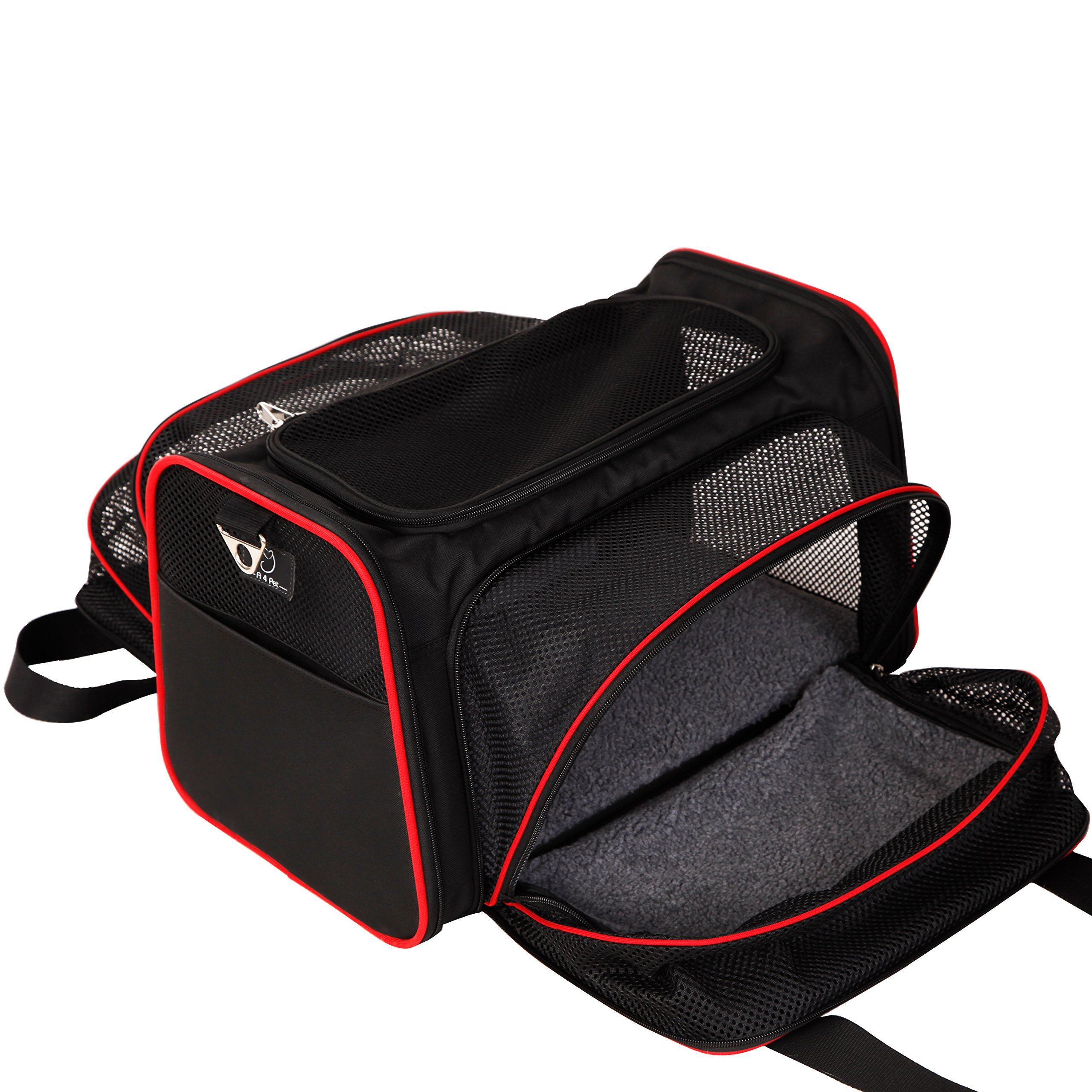 A4Pet Airline Approved Pet Carrier, Both Side Expandable, Top Loading Cats Small Dogs Puppy Small Animals by A4Pet (Image #3)
