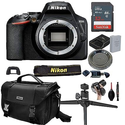 Nikon D3500 Cuerpo de cámara DSLR (sin Lente) + Tarjeta de 32 GB ...