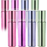 Pack of 8--Glass Roll on Bottles - 10ml Glass Roller Bottles for Essential Oil, Empty Aromatherapy Essential Oils,Perfume Bottles - Refillable Slim with Metal Ball by Mavogel