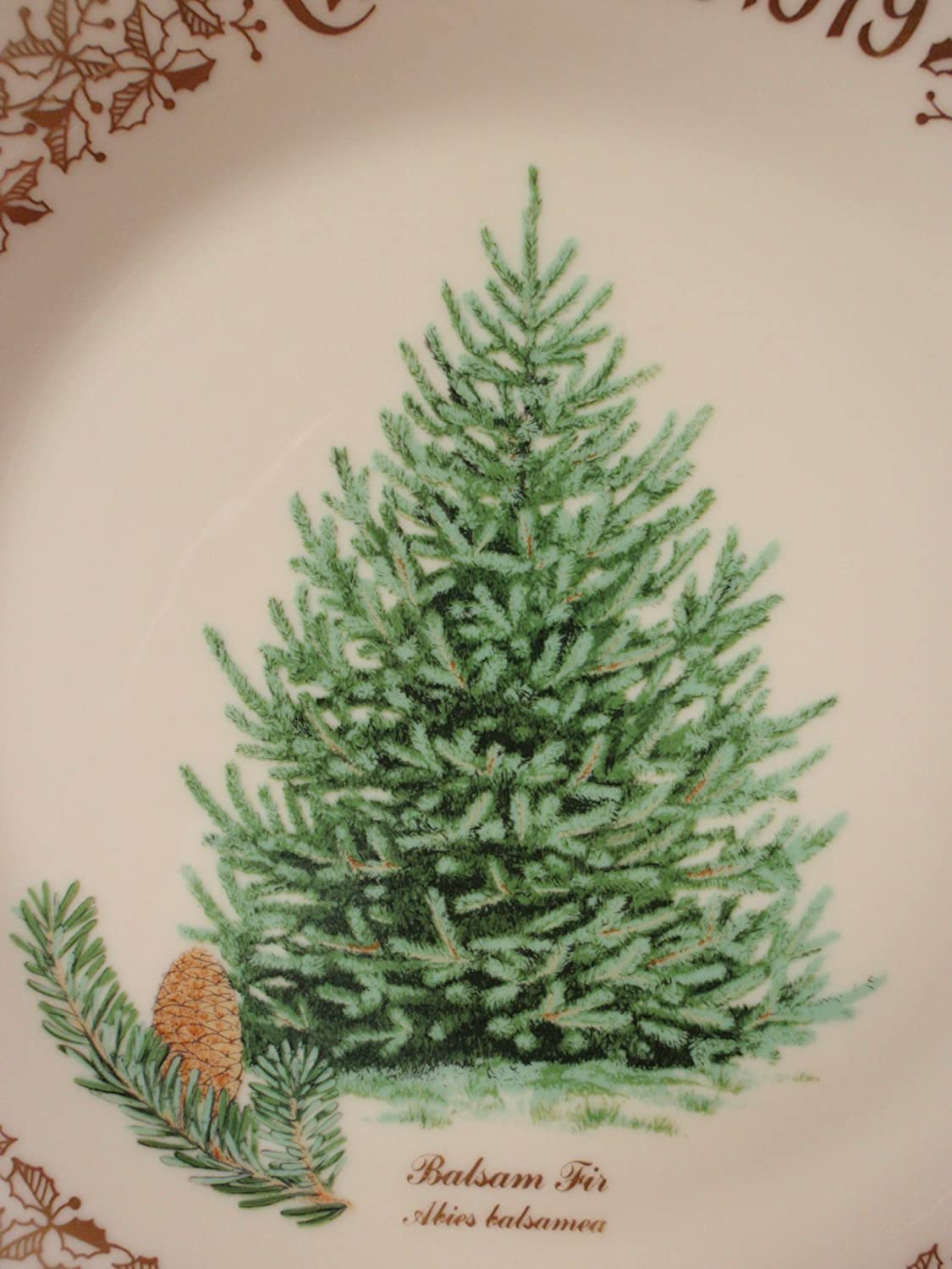 1979 Lenox Christmas Holiday Balsam Fir Tree Commemorative Annual Plate