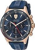 ساعة سكوديريا فيراري بيلوتا للرجال بمينا ازرق سليكون كرونوغراف - 830621