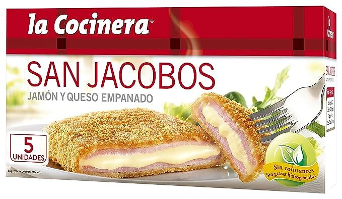La Cocinera - San Jacobo, Jamón y queso Empanado, 388 g