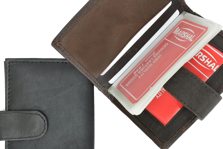 EEL Skin Credit Card Case Brown #E570