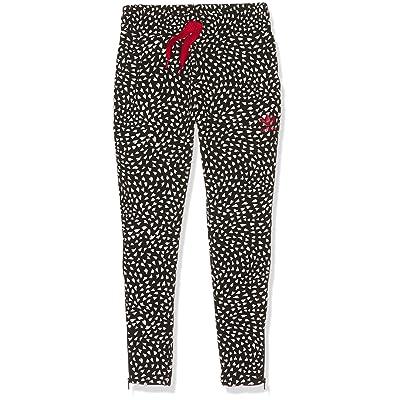 adidas Originals Girl's Crepe Pants Blackwhite 5 Black