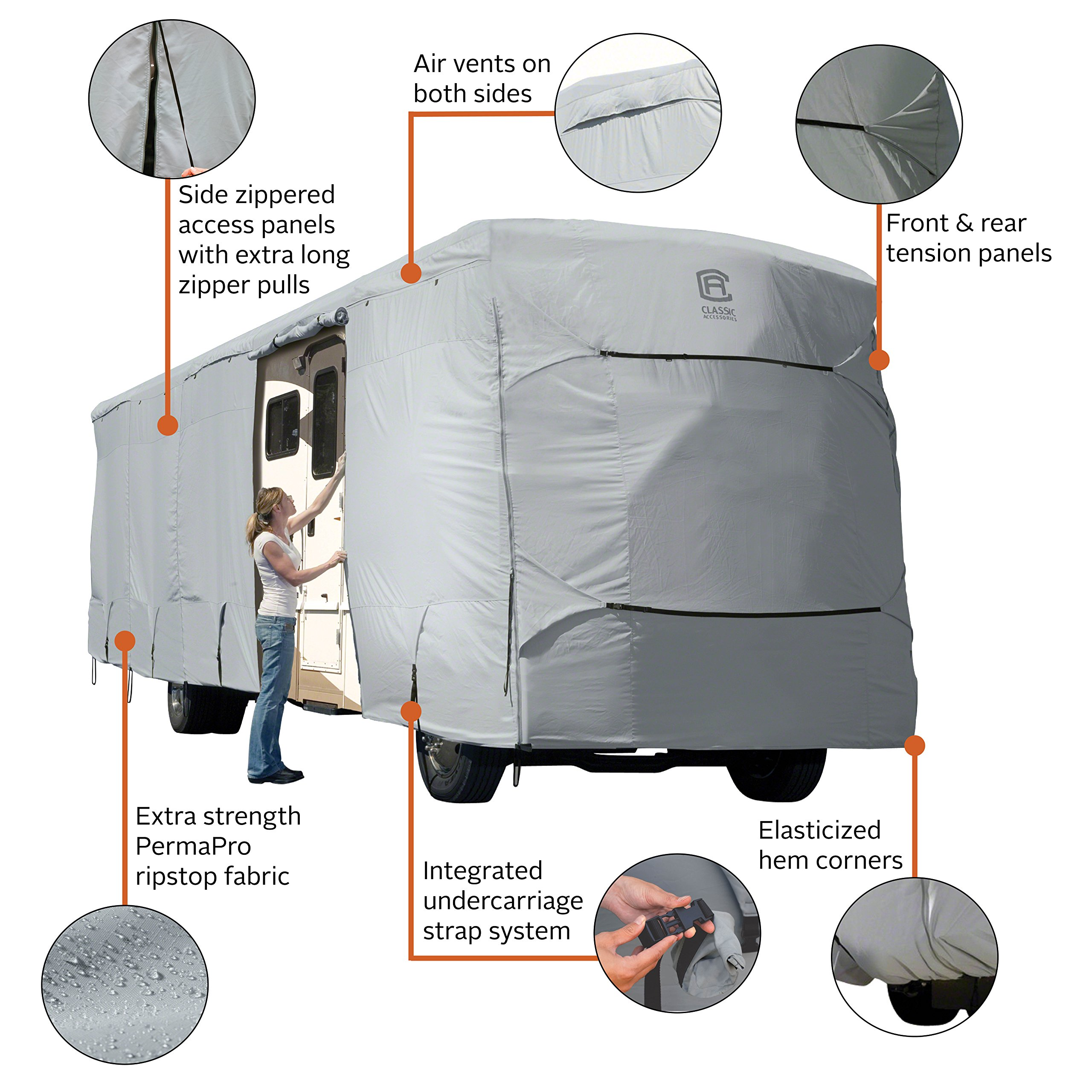 Classic Accessories OverDrive PermaPro Heavy Duty Cover for 24' to 28' Class A RVs by Classic Accessories (Image #2)
