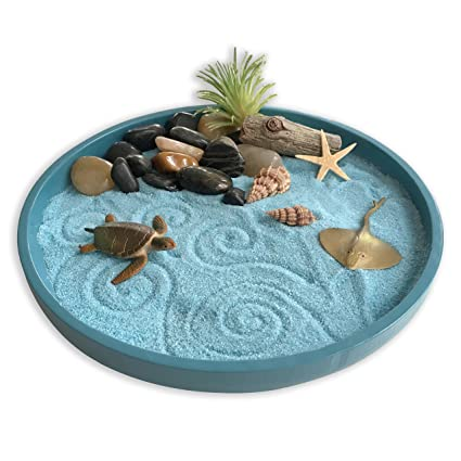 Mini Zen Garden Sea Life, A Day at The Ocean, Desktop Sandbox for  Zen Mini Sand Gardens Designs on mini rock garden, diy zen garden sand, mini zen sand table, japanese rock garden sand,