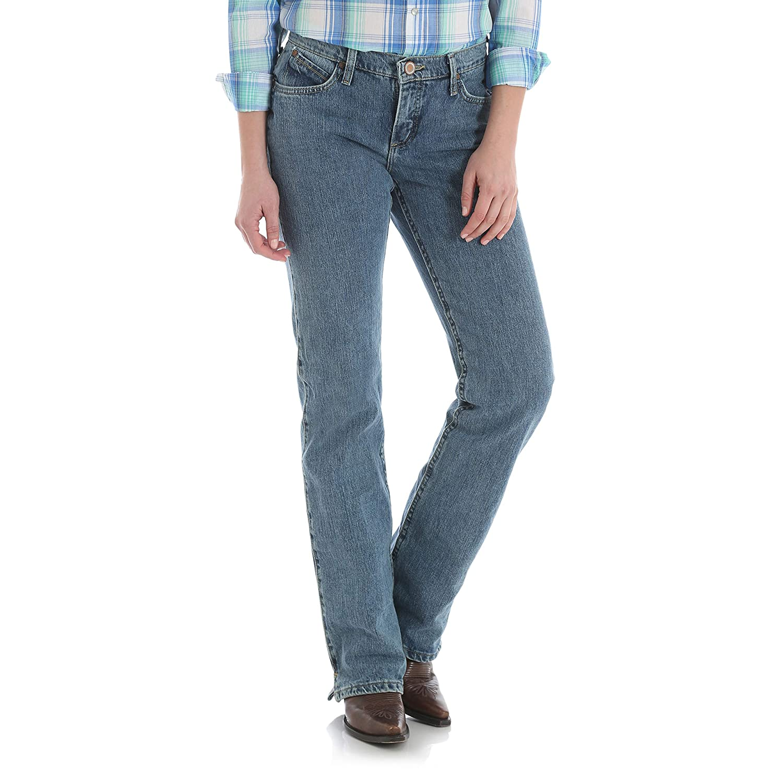 Wrangler Womens Cash Mid Rise Vented Hem Ultimate Riding Jean Jeans