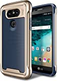 LG G5 Case, E LV LG G5 - Hybrid [Scratch/Dust Proof] Armor Defender Slim Shock-Absorption Bumper Case for LG G5 - [DARK BLUE/GOLD]