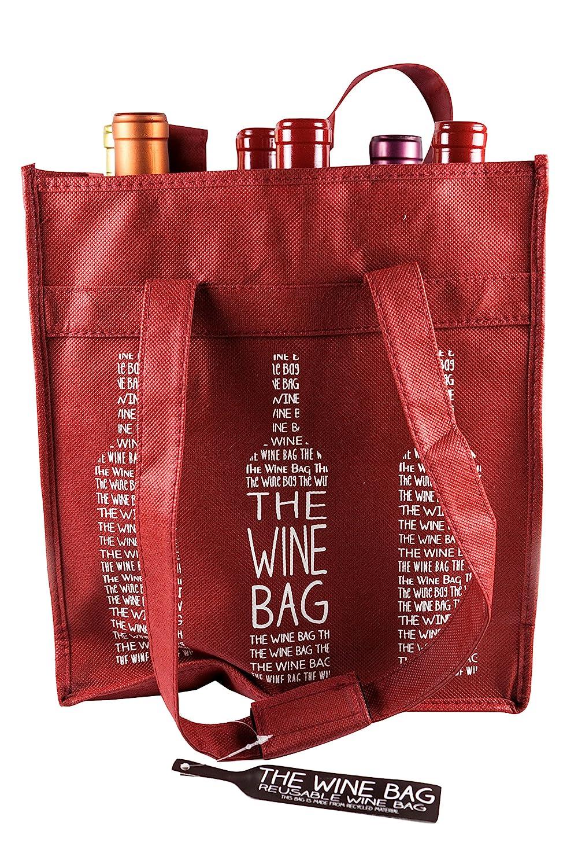 Amazon.com  Berk Reusable 6 Bottle Wine Shopping Bag  Kitchen   Dining 445840976