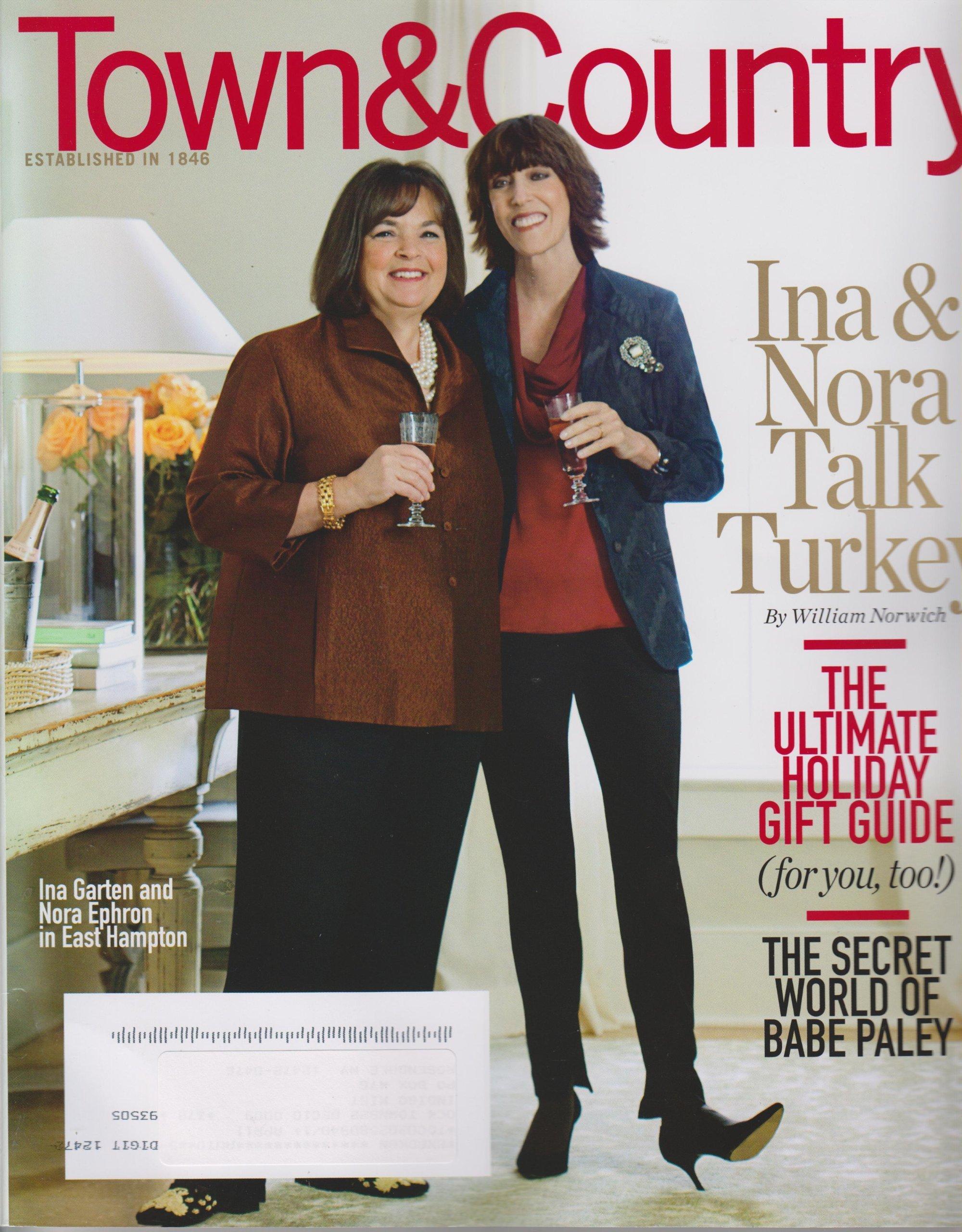Garten Magazine town country december 2010 ina garten and nora ephron turkey