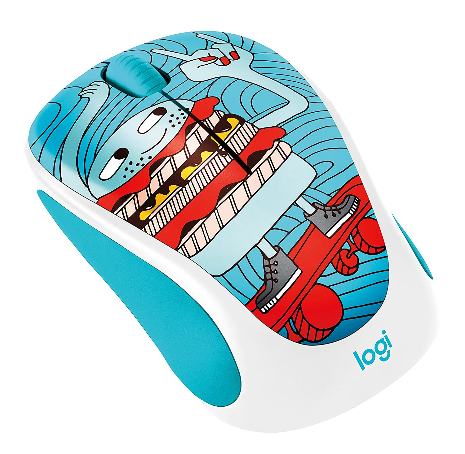 Logitech M238 Doodle Collection Kabellose Maus Computer Wireless Mouse Party Toucan Zubehr